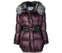 oversized hooded padded coat