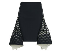 bias perforated mini skirt