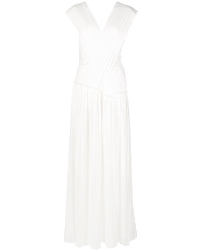 'Knife' Kleid mit Falten