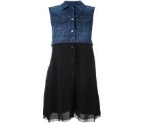 Ausgestelltes Kleid mit Jeanseinsatz