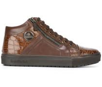 High-Top-Sneakers in Krokodillederoptik