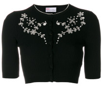 cropped embroidered cardigan