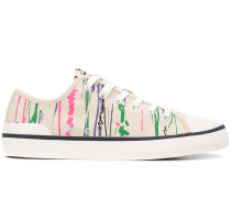 Sneakers mit Pinselstrich-Print