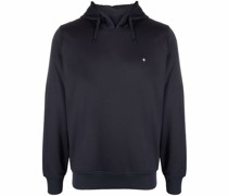 embroidered-motif drawstring hoodie