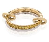 Marigold 18kt yellow gold diamond link ring