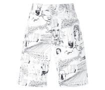 illustration print shorts
