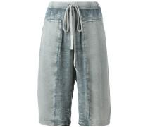 panelled drawstring shorts