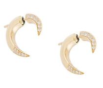 18kt 'Signature Diamond' Weißgold-Ohrstecker mit Diamanten