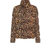Steppjacke mit Leoparden-Print