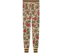 Lurex rose jacquard legging