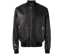 studded embroidered triangle jacket