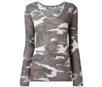 Pullover mit Camouflage-Print
