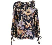 'Sabotage' Bluse mit Blumen-Print