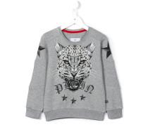 Sweatshirt mit geometrischem Tiger-Print