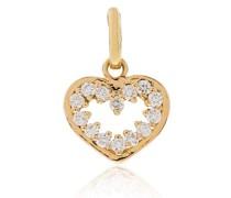 18kt Gelbgoldanhänger mit Diamanten