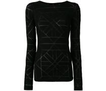 Langarmshirt mit geometrischem Muster