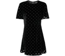 polka dot flared dress