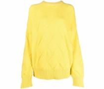 argyle-knit merino jumper
