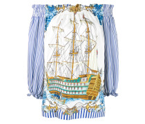 ship print top - women - Seide - S
