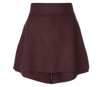layered mini shorts