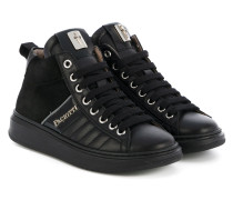High-Top-Sneakers mit Logo-Patch