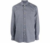 cotton houndstooth-pattern shirt