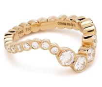 18kt Ocean Ensemble Goldring mit Diamanten