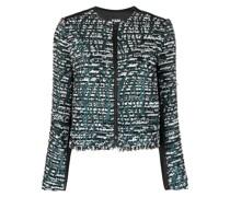 Zweifarbige Tweed-Jacke