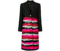 single-breasted printed coat