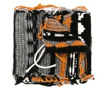 Intarsien-Schal mit Mustermix