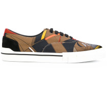 geometric pattern sneakers