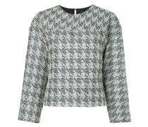 houndstooth brocade minimalist blouse