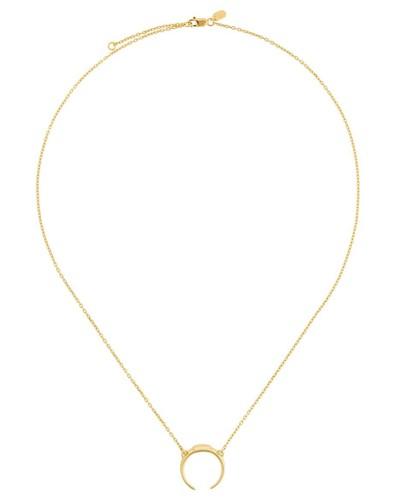 Vergoldete 'Tusk' Sterlingsilber-Halskette
