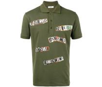 'Jamie Reid' Poloshirt mit Slogan-Print