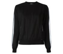 Drapierter Pullover mit Netzlage
