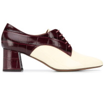 Zweifarbige Schnürschuhe