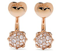 18kt rose gold diamond Sisi earrings