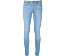 Skinny-Jeans mit Herzstickerei