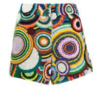 - circle pattern sequin shorts - women