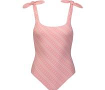 Badeanzug mit geknoteter Schulter