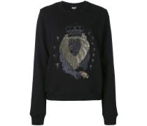 Sweatshirt mit Löwen-Patch