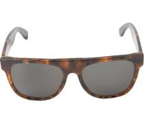 Große 'Flat Top Havana' Sonnenbrille
