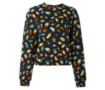 'Space' Sweatshirt mit Print