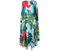 Tunikakleid mit tropischem Print