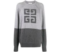 Gemusterter '4G' Intarsien-Pullover