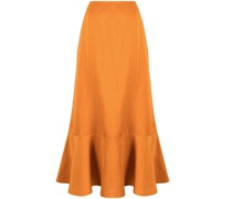 ruffle-hem mid-length skirt