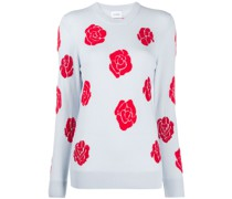 'Roses' Pullover mit Rundhalsausschnitt
