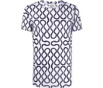 T-Shirt mit Kurvenmuster