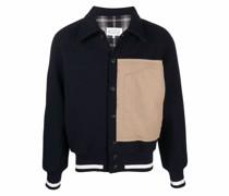 panelled button-up shirt jacket