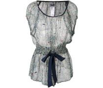 Semi-transparente Bluse mit floralem Print